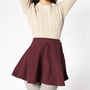 AMERICAN APPAREL Corduroy Circle Skirt in Truffle